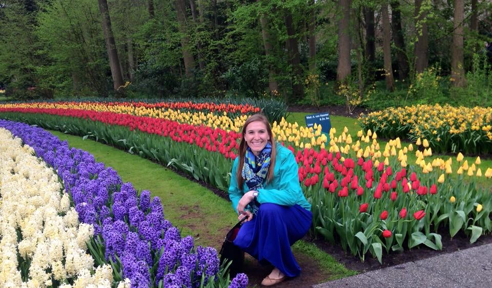 Morgan Mander at Keukenhof Gardens