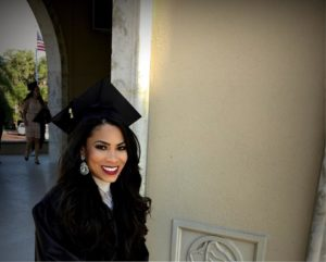 LaVita in cap and gown