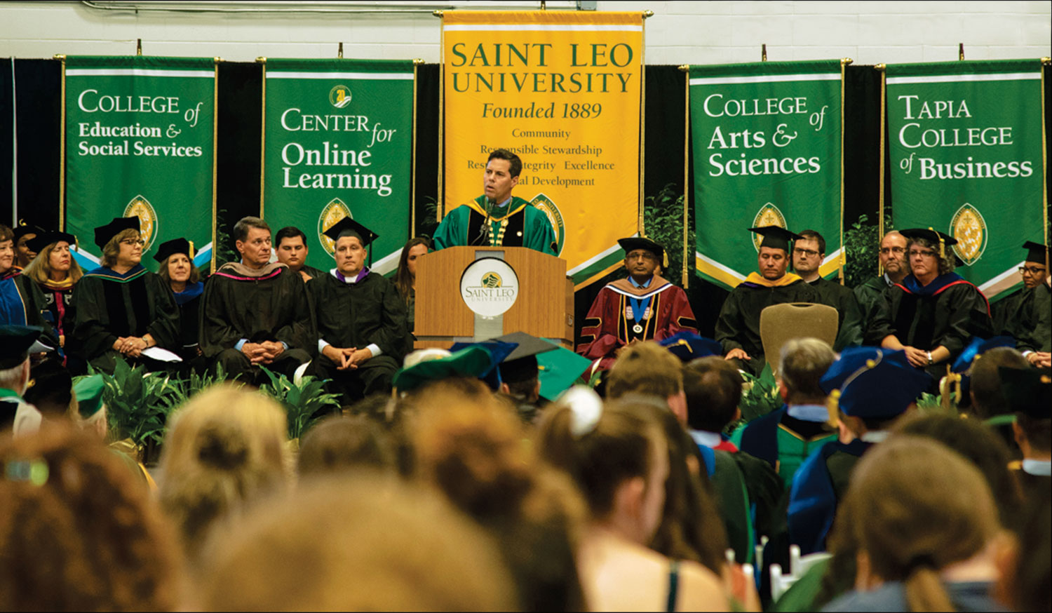 Saint Leo Welcomes Largest Incoming Class at University Campus at Convocation