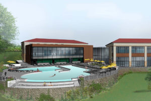 Wellness Center Pool Perspective