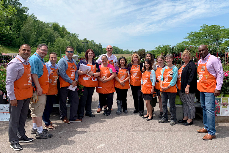 Jason Arigoni and his team at Home Depot