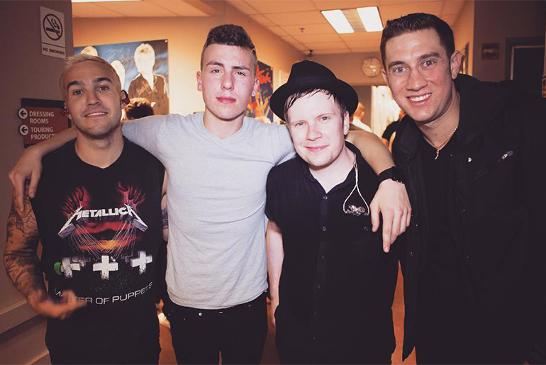 Joey with American rock band Fall Out Boy