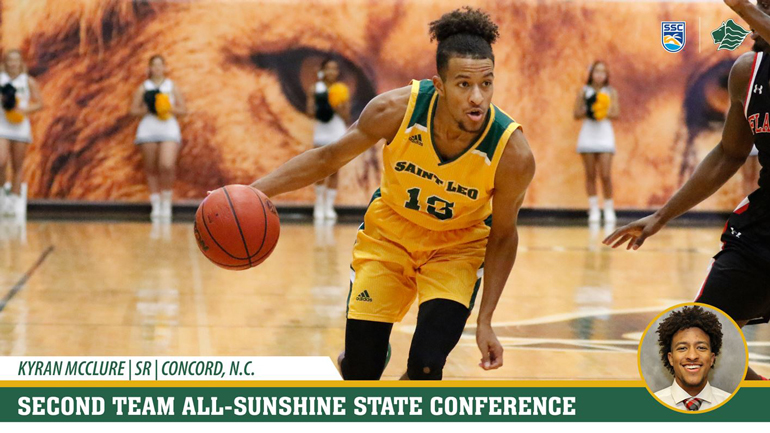 Saint Leo basketball player Kyran McClure