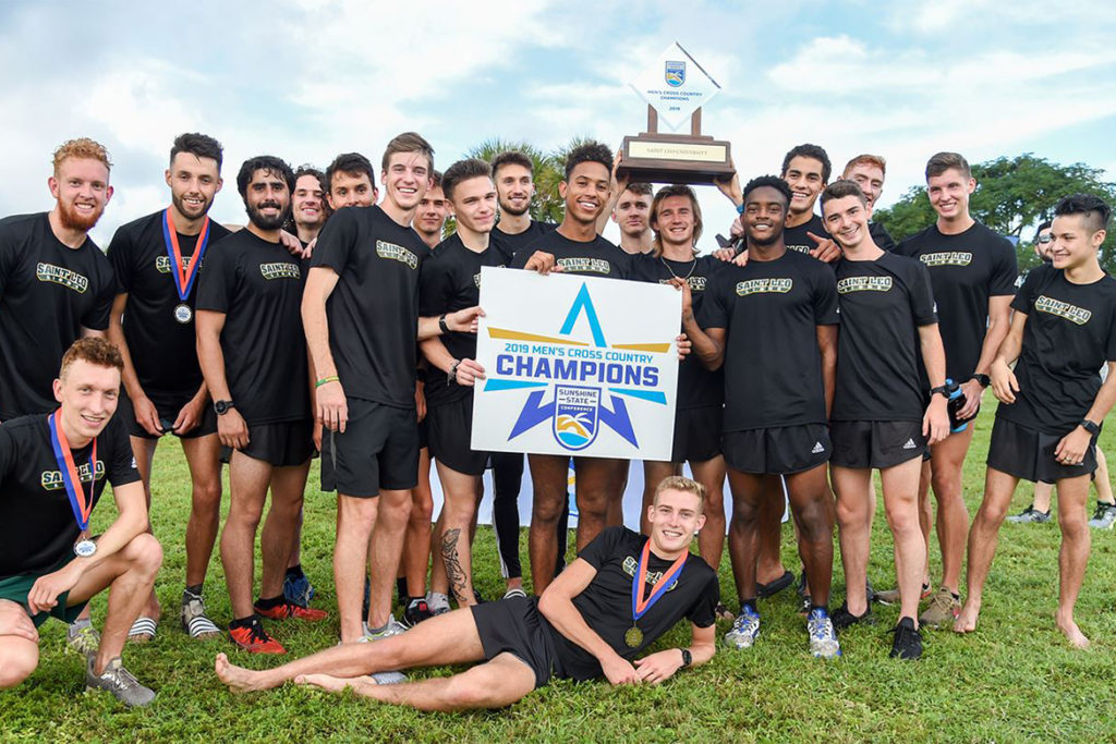 Saint Leo men's cross country wins the Sunshine State Conference title