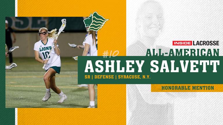 Saint Leo lacrosse player Ashley Salvett